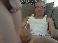blonde whore receives fucked by aged stud on web