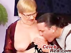 german granny fucked in threesome by