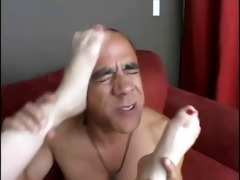 redhead cherry hot foot play until cock juice on
