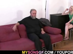 she is is punished and drilled by old daddy