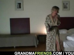 two robbers gangbang lonely widow