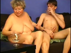 playing with overweight grandma by troc