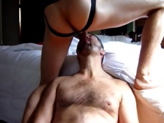 twink facefucks dad and drenchs him in cum