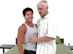 juvenile tanned homosexual boy bangs with older