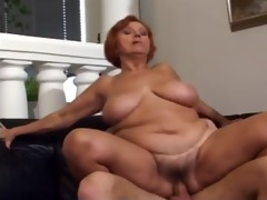 56 yr. old redhead granny drilled by a juvenile