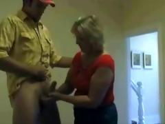 aged wife jerking his nephew