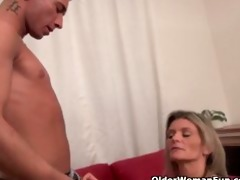 sexy aged lady sucks and fucks a cock