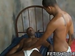 blaine everett: hot gay black on black jockstrap