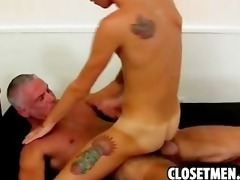 young blond guy gets railed by old chap in the