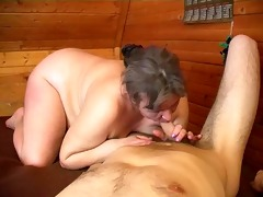 old plump mama with saggy boobs &; guy