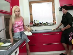 old blond seduces son in law