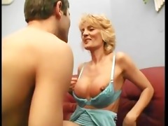 golden-haired cougar discovered a young dick