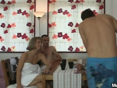 oral three-some with her bfs parents