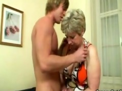 blond aged fucked hard by youthful guy