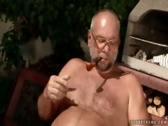 cherry kiss and grandpa pissing