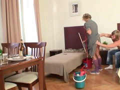 she pleases him instead cleaning