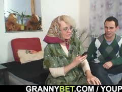 she is enjoys fresh cock into her old cum-hole