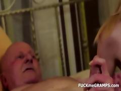 grandad ben enjoys tasting fresh pussies