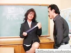 gorgeous aged sweetheart gives a oral sex lesson