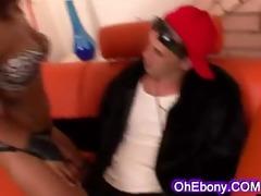 hawt hot ebony on hhuge hard white cock
