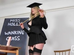 holly kiss jerk off class for bills hotties