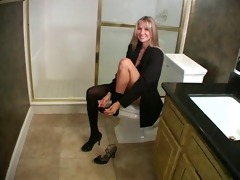 mom and guy in bathroom