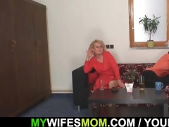 mother-in-law takes it hard from behind
