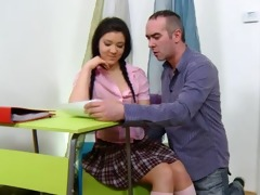 teen vika is in the school room fucked by her