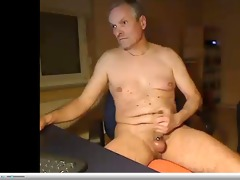 dad wanking groaning with hawt cum