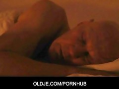 youthful nympho maid is fucking an aged guest boy