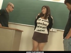 plump and breasty student drilled by hung and
