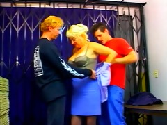 big titted aged business lady dana double dicked