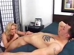 great blond milf sucks and fucks.