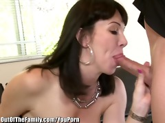 daughter catches mommy getting arse drilled