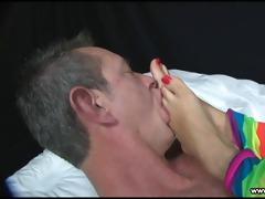 dominant latin princess makes slave worship her