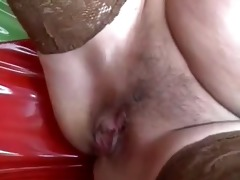 blond hungarian granny screwed by 2 men - double