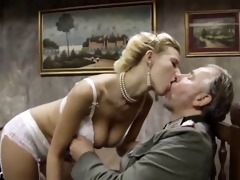 busty blonde acquires fucked by old stud