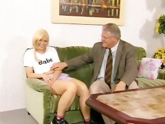 hairy euro chick receives fucked by old guy