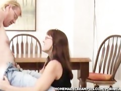 amateur d like to fuck takes creampie