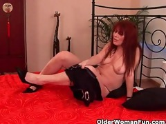 grandma with hairy cunt enjoys a hard ramrod in