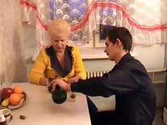 russian aged mom and her boy! amateur!