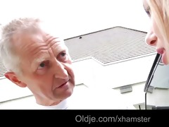 favourable oldman bonks exqusite blond legal age