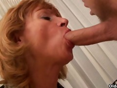grandma desires your cum on her old tits