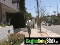 fresh dark stepdad punishes hawt daughter for