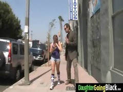 young daughter with nice butt drilled by a dark