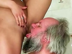 girl punishing and fucking a granddad