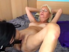 dominated mom teaches younger girl