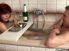 her chap comes in when his dad fucks her pussy