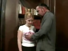 blonde young teen cherry poppens seduce old dude