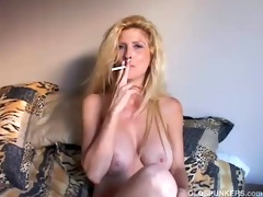 charming blond d like to fuck enjoys a smoke break